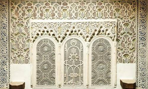 Moroccan plaster work